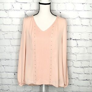 WHBM Pink Pleated Blouse Sz. 4